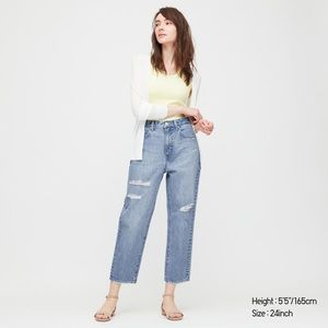 Uniqlo Slouch Tapered Ankle Jeans NWT